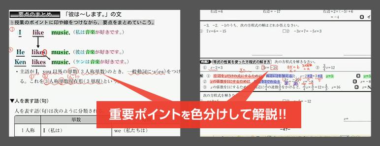 重要ポイントを色分けして解説!!